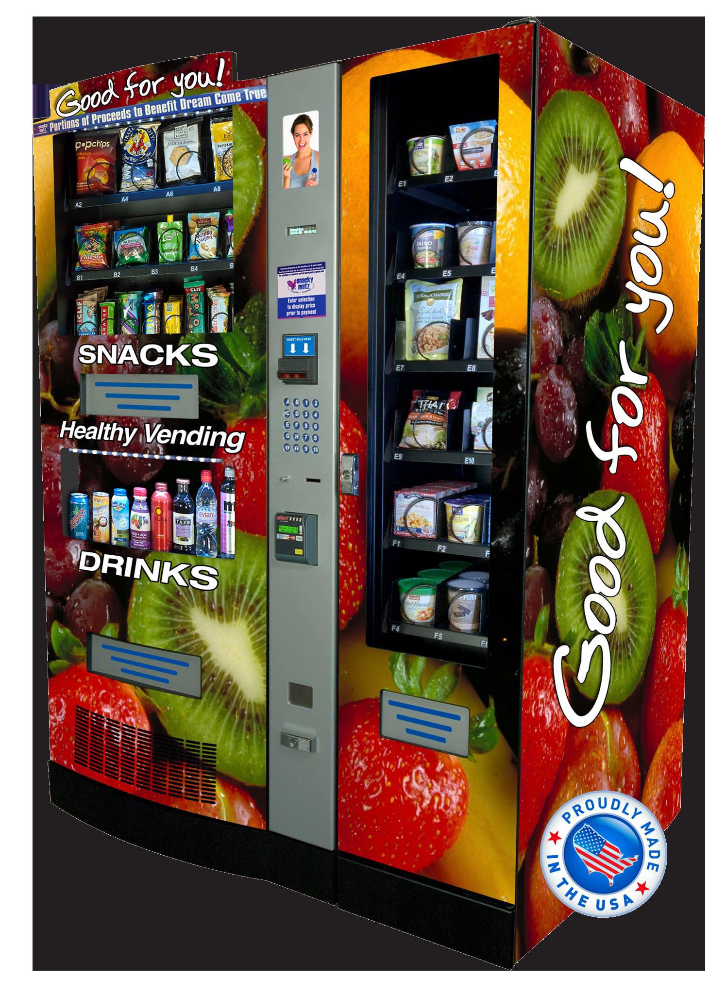 Healthy Snacks Vending Machine  Healthy Vending Machine Snacky Matz