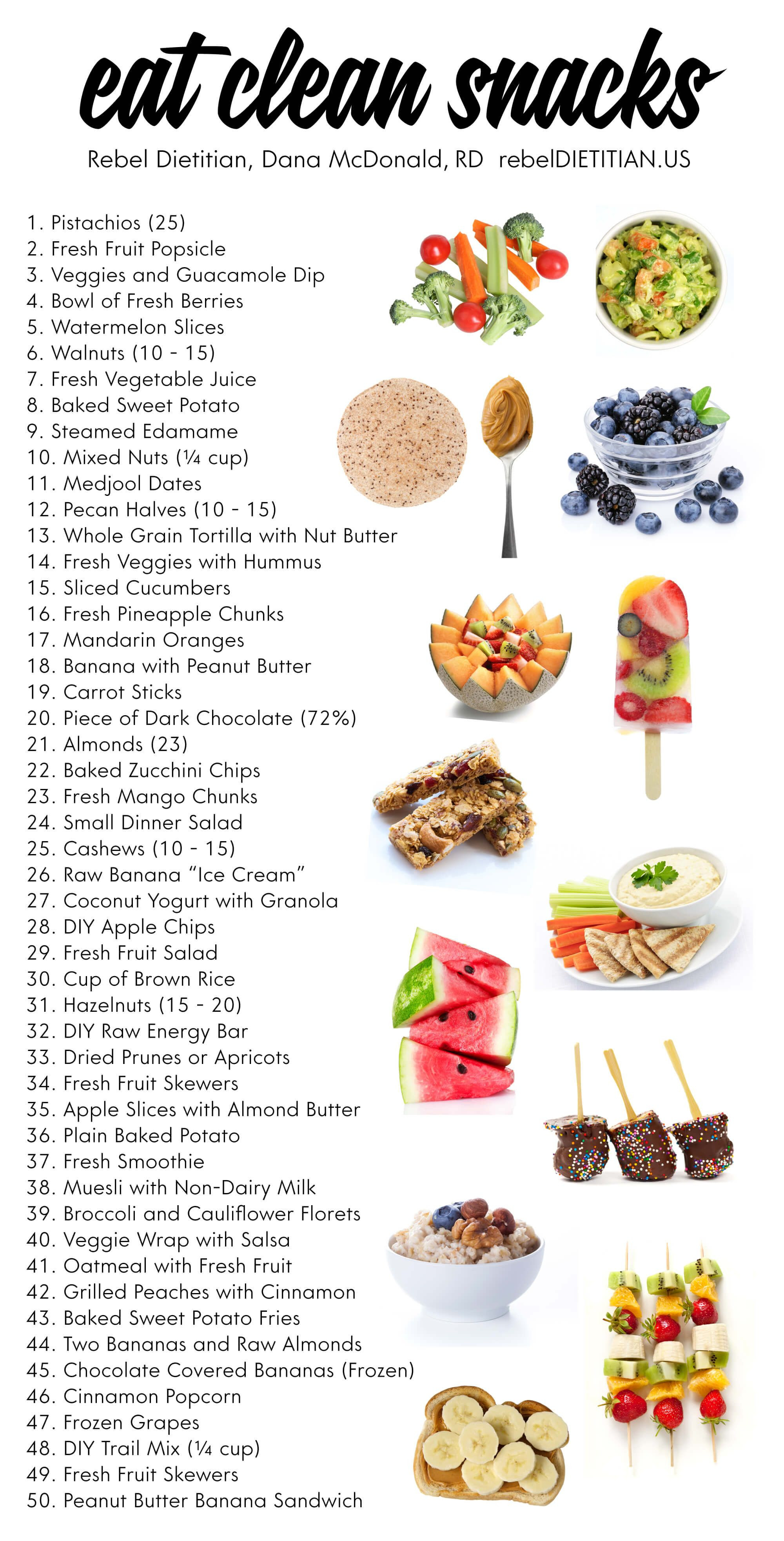 Healthy Snacks While Dieting  Eat clean snacks health nutrition foodfacts s