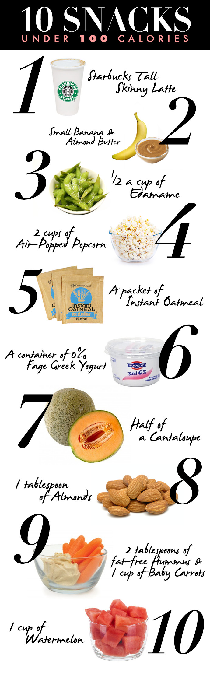 Healthy Snacks With Calories  10 Healthy Snacks Under 100 Calories