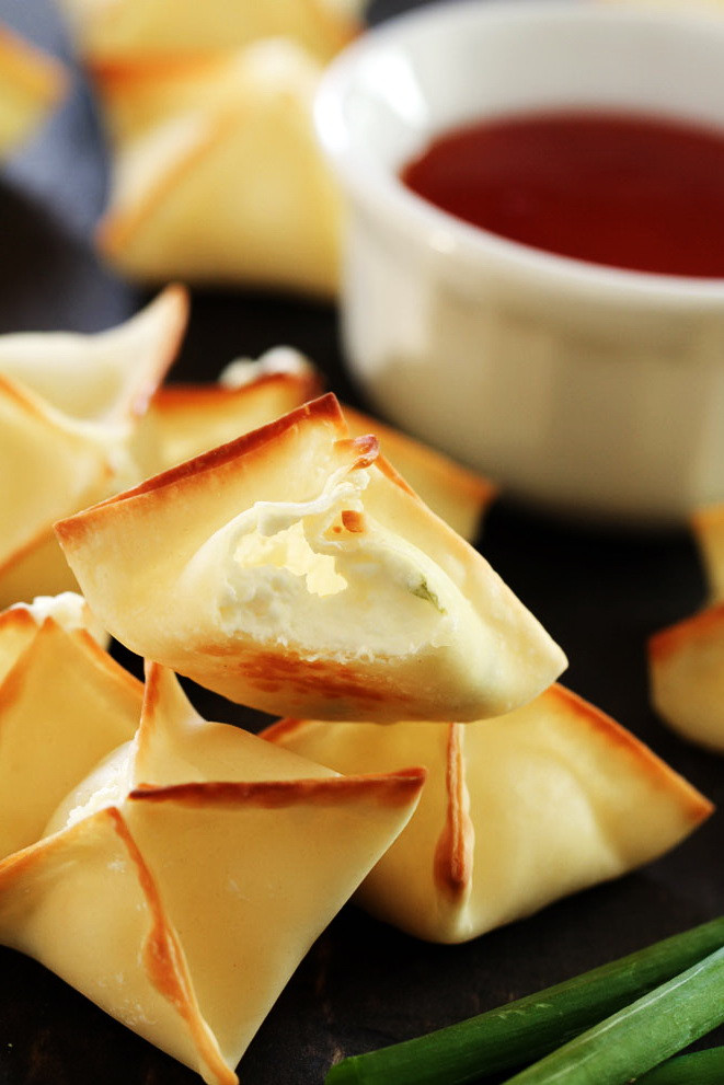 Healthy Snacks With Cream Cheese  Baked Cream Cheese Wonton – Best Healthy Weight Loss Snack