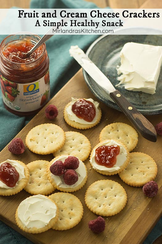 Healthy Snacks With Cream Cheese  Fruit and Cream Cheese Crackers A Simple Healthy Snack