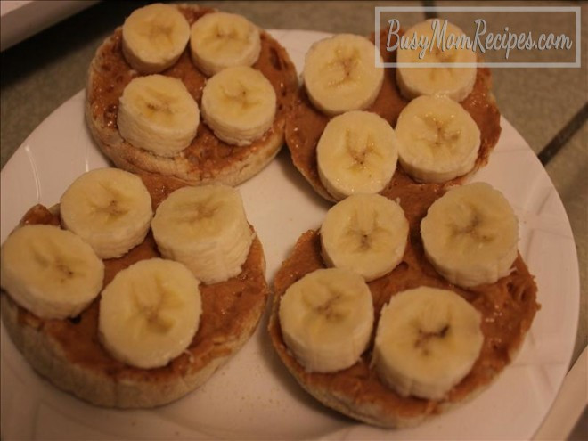 Healthy Snacks With Peanut Butter  Healthy Peanut Butter Banana English Muffin Snack Idea