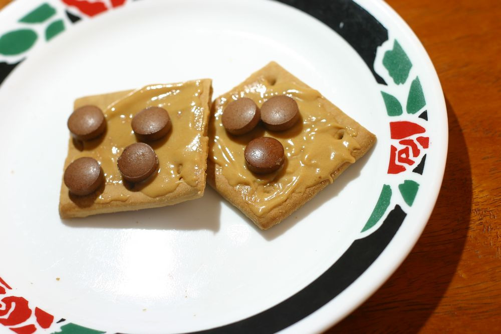 Healthy Snacks With Peanut Butter  How to Make Healthy Graham Cracker Peanut Butter Snack 4