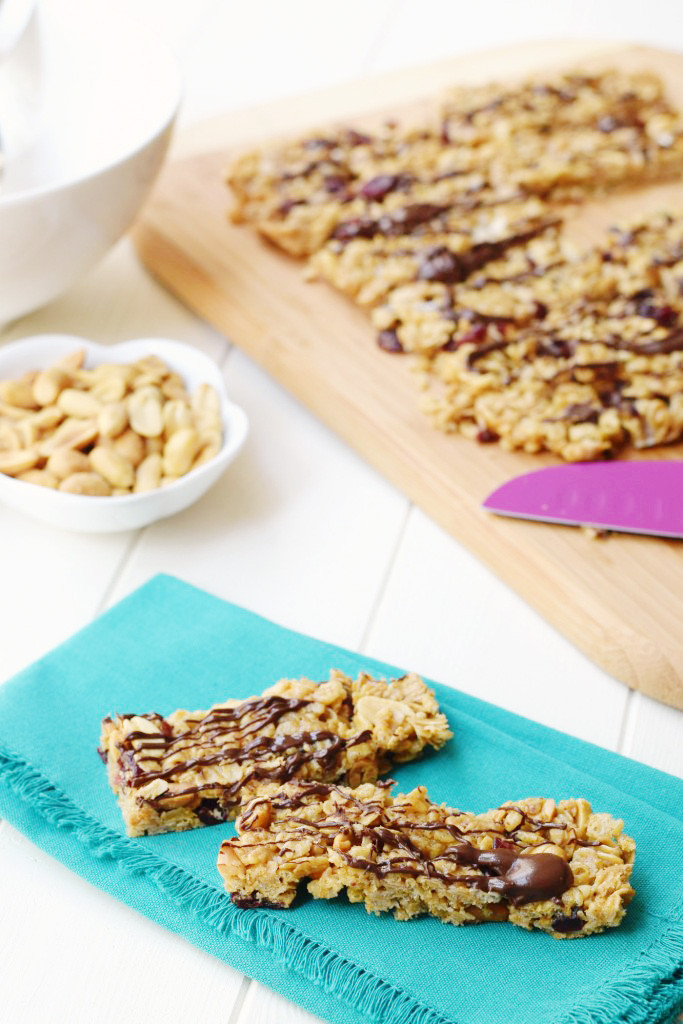 Healthy Snacks With Peanut Butter  Healthy Peanut Butter Snack Bars