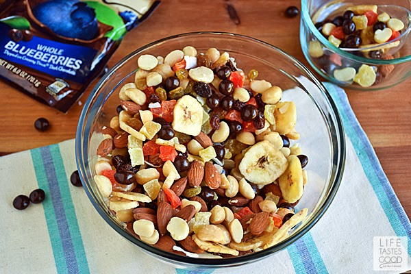 Healthy Snacks Without Nuts  Homemade Tropical Trail Mix LoveDoveFruits