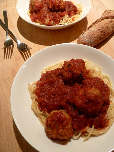 Healthy Spaghetti And Meatballs  Cracked Pepper Healthy Homemade Spaghetti and Meatballs