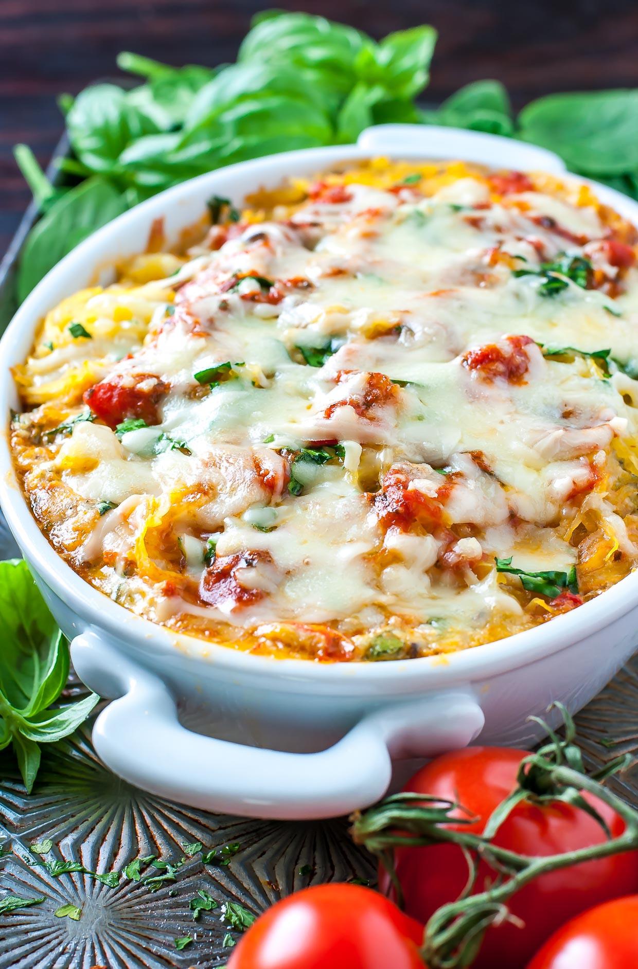 Healthy Spaghetti Recipes  healthy baked spaghetti squash casserole