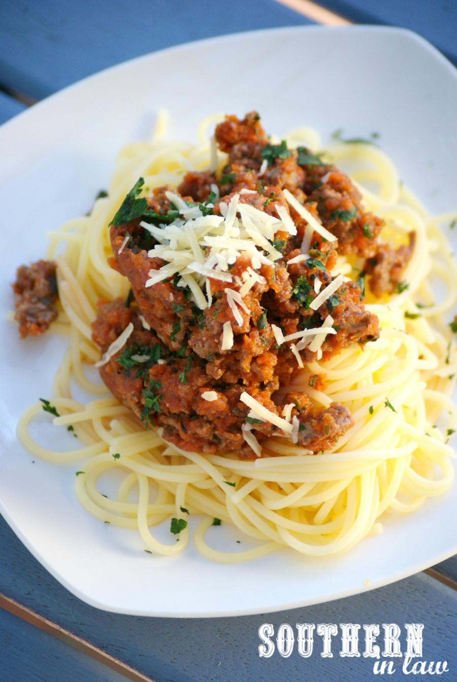 Healthy Spaghetti Sauce  Southern In Law Recipe Nomato Spaghetti Bolognese
