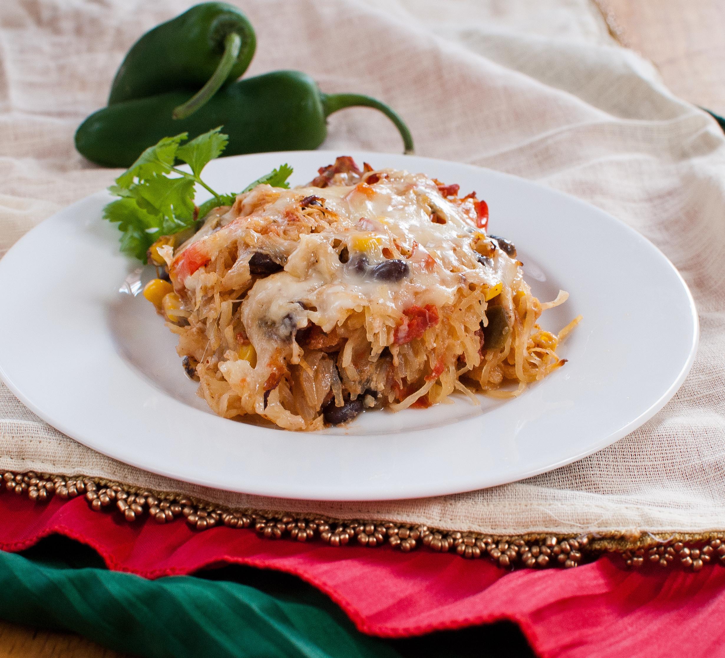 Healthy Spaghetti Squash Casserole  healthy baked spaghetti squash casserole