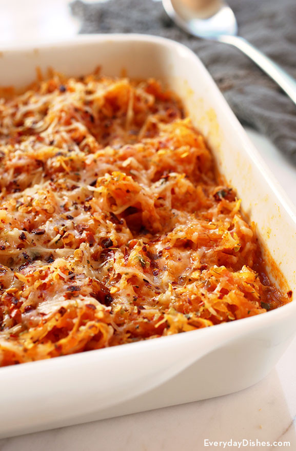 Healthy Spaghetti Squash Casserole  Easy Spaghetti Squash Casserole Recipe