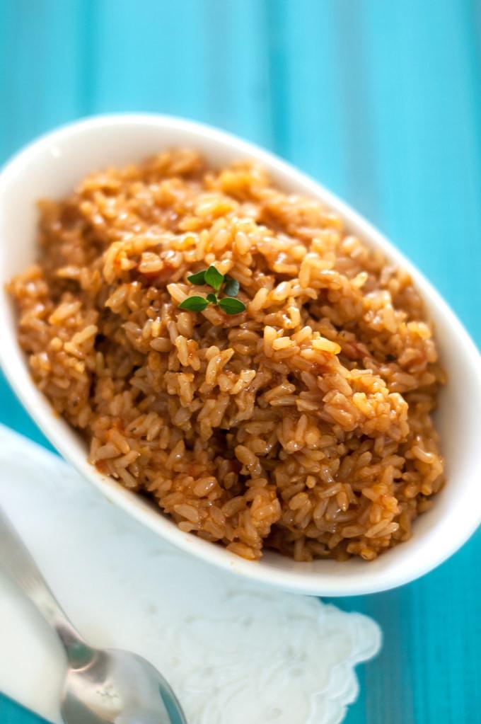 Healthy Spanish Rice  Kid Friendly Spanish Brown Rice Wendy Polisi