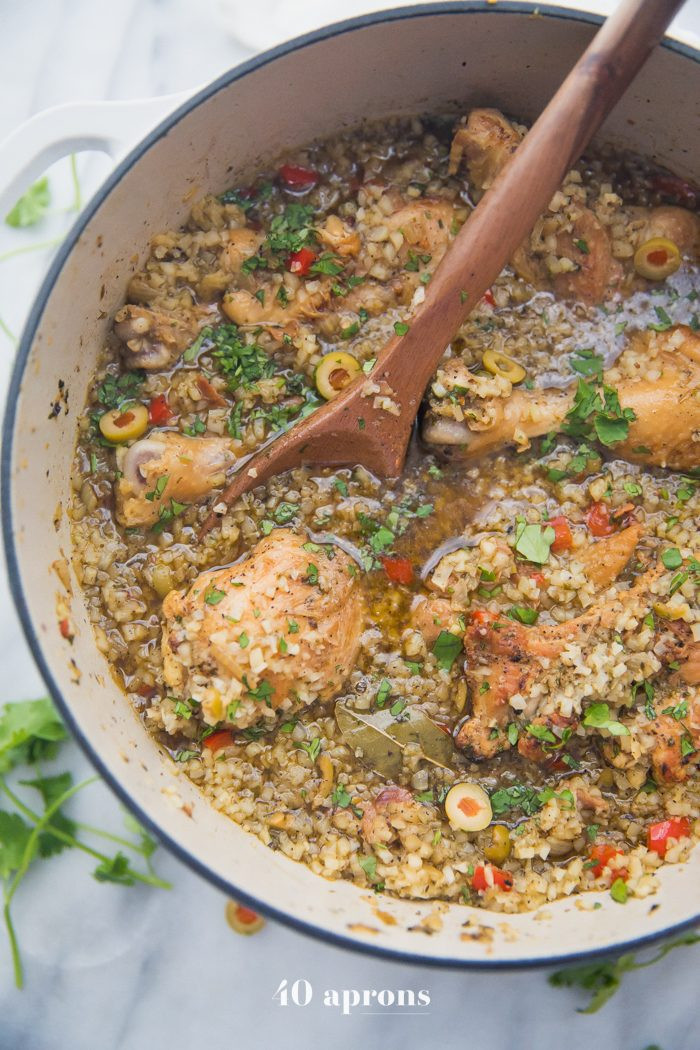 Healthy Spanish Rice  Healthy Spanish Chicken and Rice Stew Whole30 Low Carb
