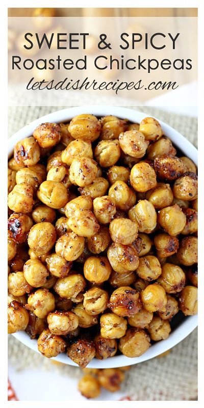 Healthy Spicy Snacks  Sweet and Spicy Roasted Chickpeas Recipe