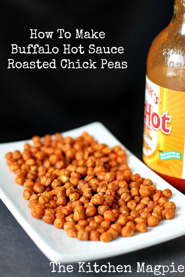 Healthy Spicy Snacks  How To Make Amazing Buffalo Hot Sauce Roasted Chickpeas