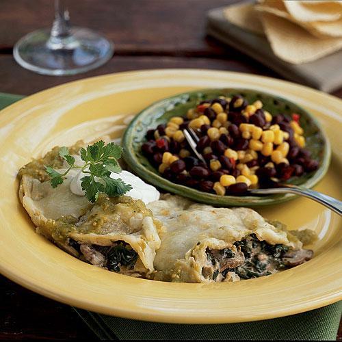 Healthy Spinach Enchiladas  Creamy Spinach Mushroom Skillet Enchiladas Healthy