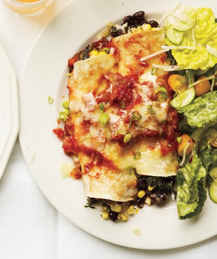 Healthy Spinach Enchiladas  spinach enchiladas