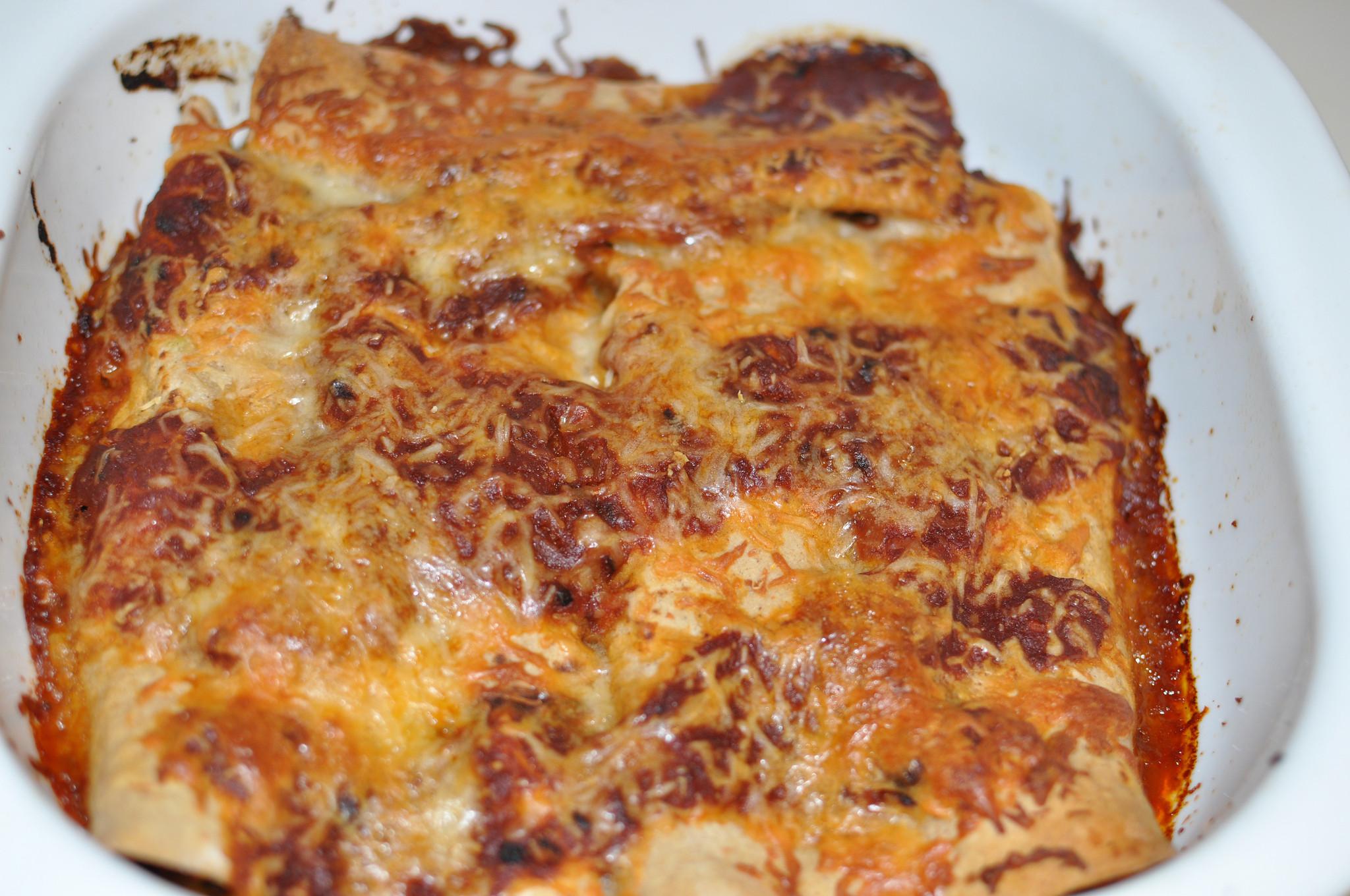 Healthy Spinach Enchiladas  Healthy Garbanzo Spinach Enchiladas