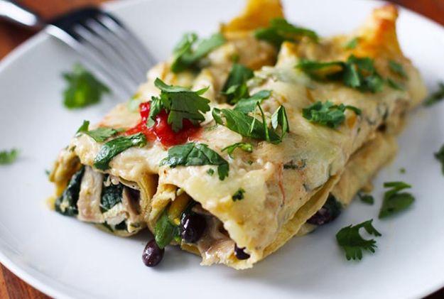 Healthy Spinach Enchiladas  20 Healthy Mexican Recipes