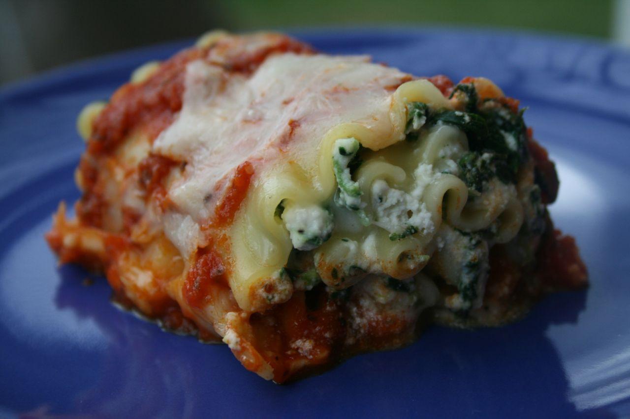Healthy Spinach Lasagna  Recipe Shoebox Spinach Lasagna Rolls Healthy Version