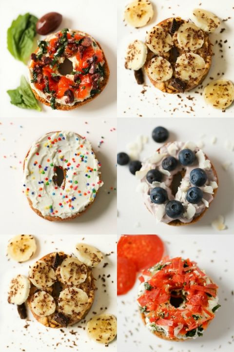 Healthy Spreads For Bagels  25 best ideas about Bagel toppings on Pinterest