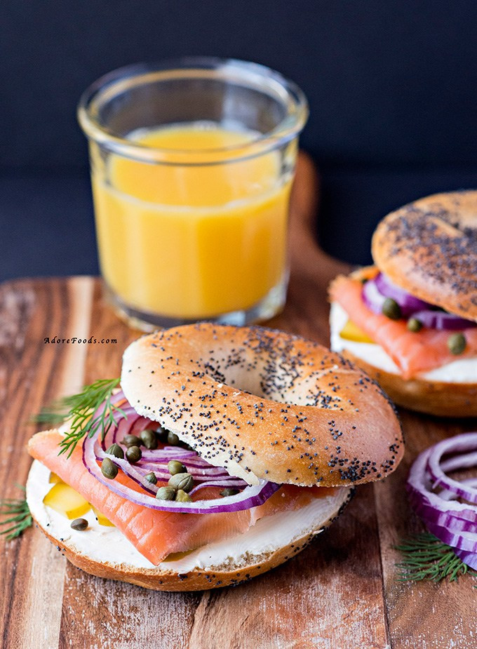 Healthy Spreads For Bagels  Smoked Salmon Bagel