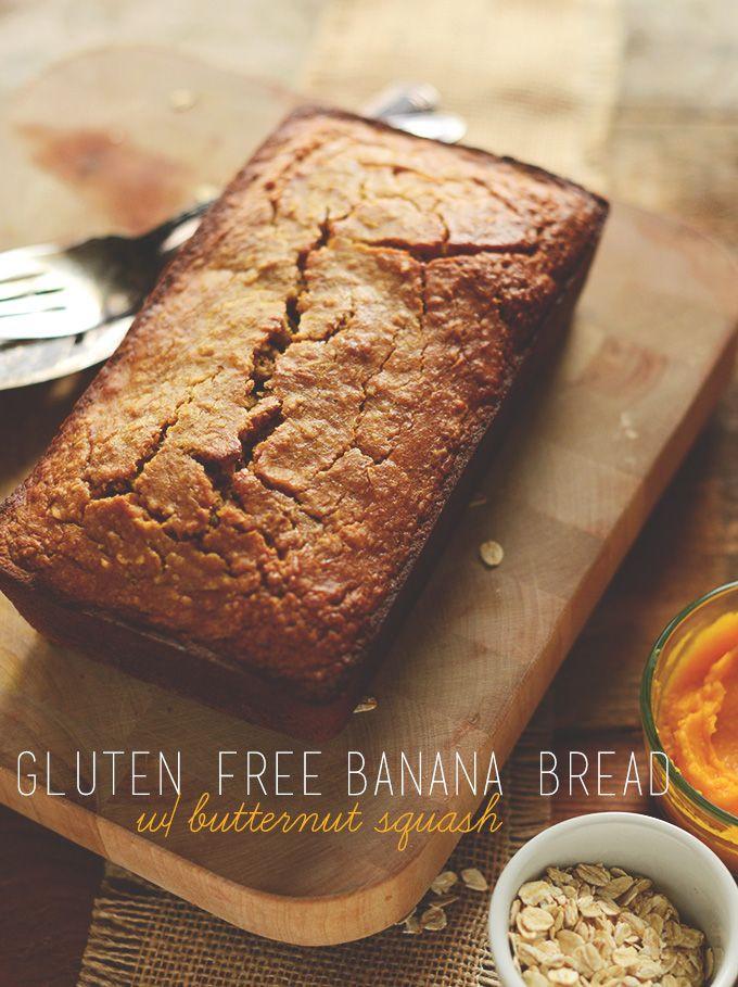 Healthy Squash Bread  Gluten Free Butternut Squash Banana Bread