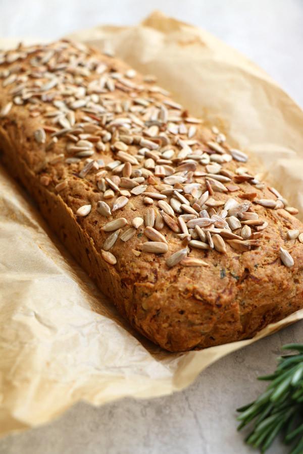 Healthy Squash Bread  Butternut Squash Rosemary Bread gluten free & vegan