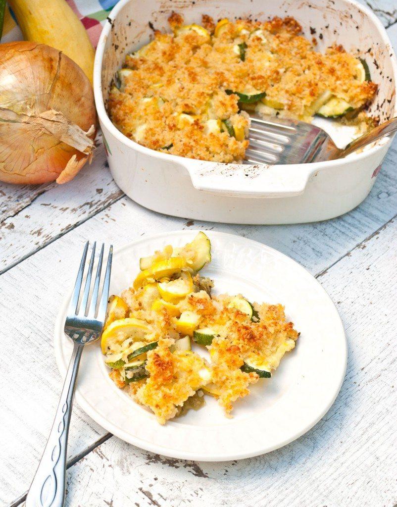 Healthy Squash Casserole  Cheesy Zucchini and Squash casserole