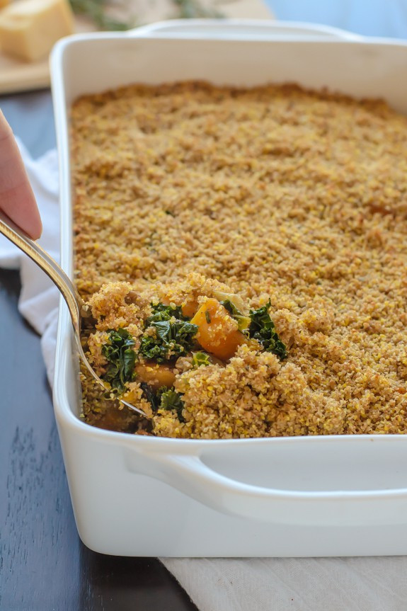Healthy Squash Casserole  Butternut Squash Casserole with Sausage and Sage Breadcrumbs
