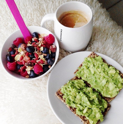 Healthy Starbucks Breakfast  fitspo starbucks coffee breakfast fruits yummy yum healthy