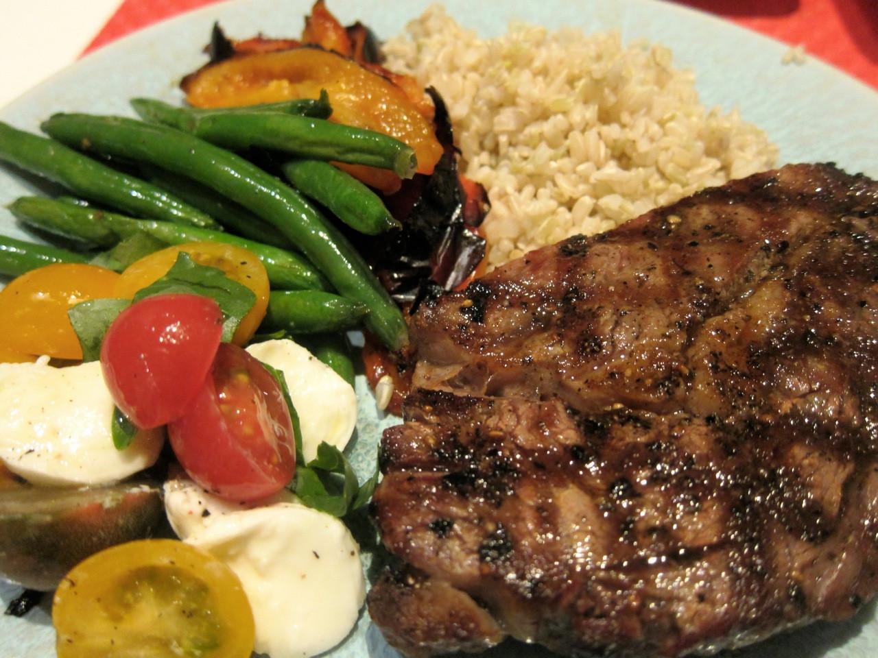 Healthy Steak Dinner  rid of hemorrhoids
