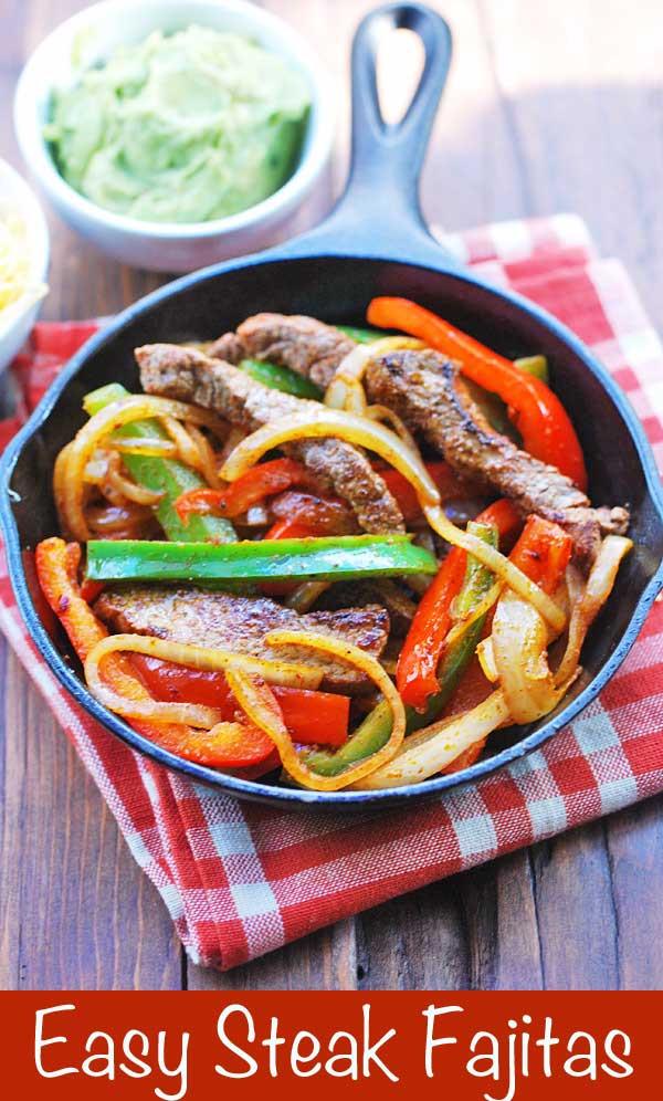 Healthy Steak Fajitas  Steak Fajitas Healthy and Easy
