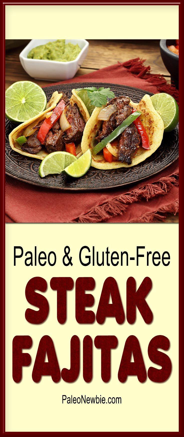 Healthy Steak Fajitas  Steak Fajitas with Paleo Tortillas Recipe