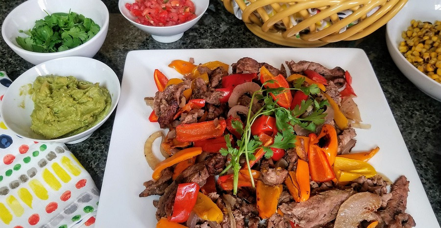 Healthy Steak Fajitas  Healthy Steak Fajitas Recipe with Marinade for the Crock