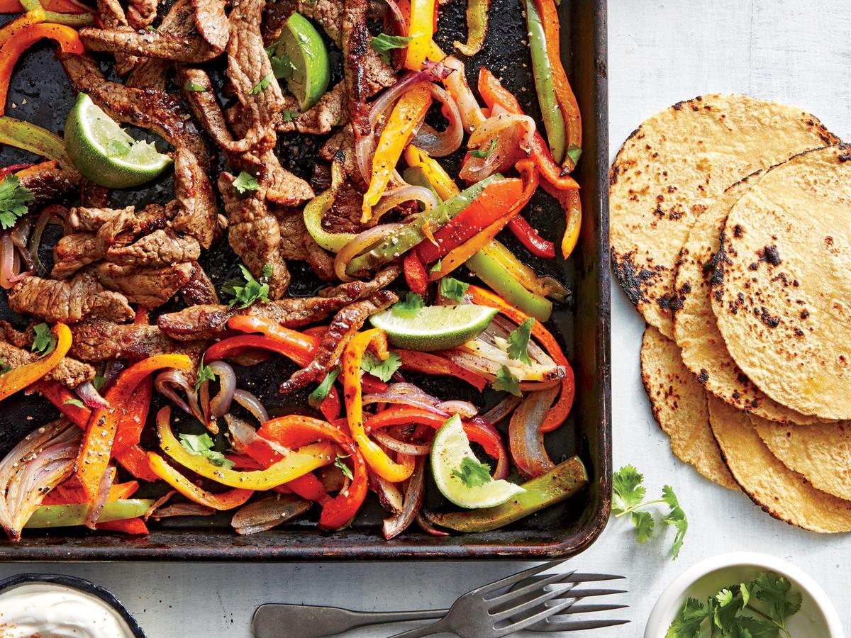Healthy Steak Fajitas  Sunday Strategist A Week of Healthy Dinners August 21