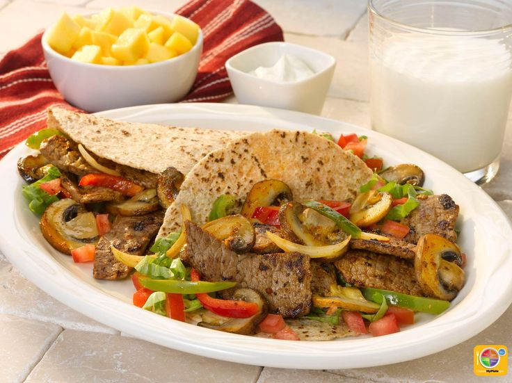 Healthy Steak Fajitas  422 best images about MyPlate Beef Main Dishes on