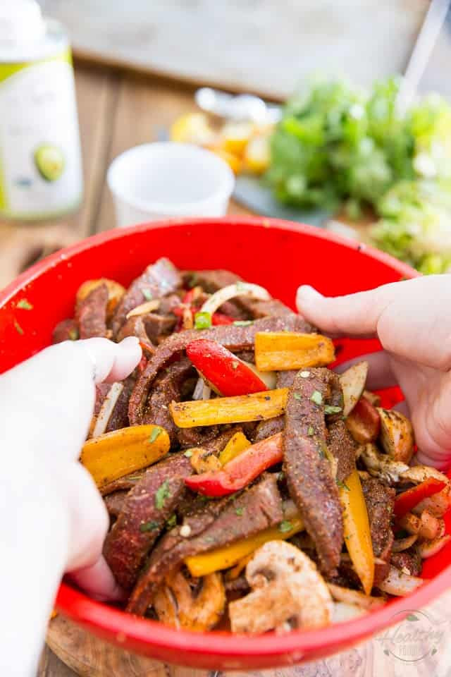 Healthy Steak Fajitas  Sheet Pan Steak Fajitas Ready in 10 minutes • The