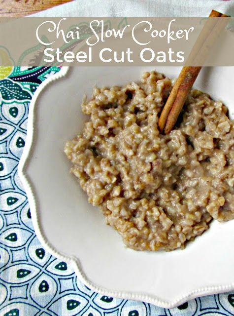 Healthy Steel Cut Oats Recipe  Chai Slow Cooker Steel Cut Oats the best healthy