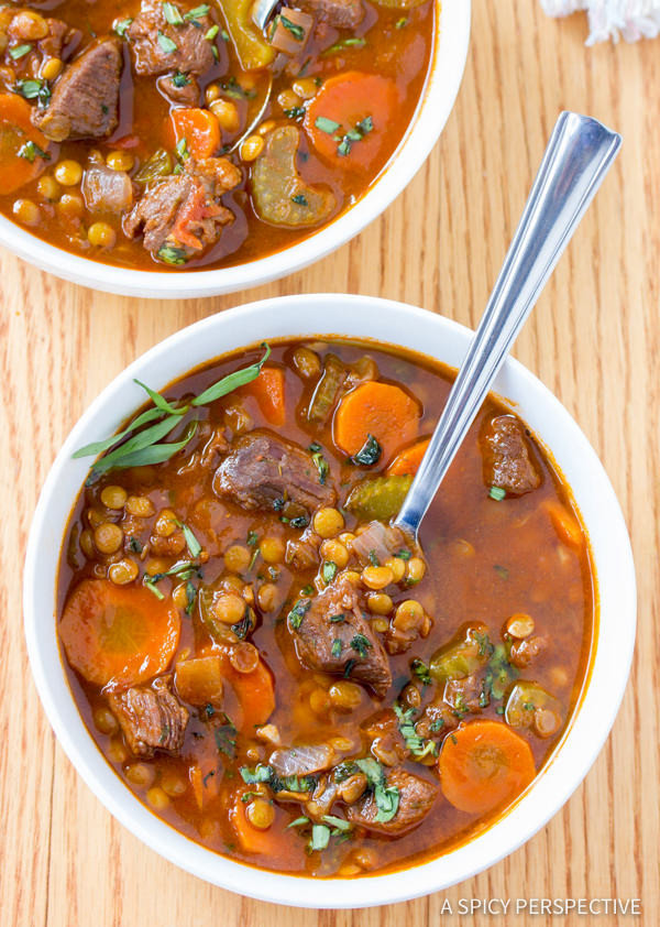 Healthy Stew Meat Recipes  Beef and Lentil Stew A Spicy Perspective