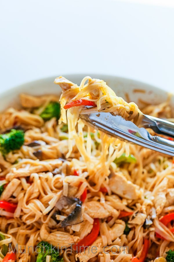 Healthy Stir Fry Noodles  30 Minute Rice Noodle Chicken Stir Fry Recipe Munchkin Time