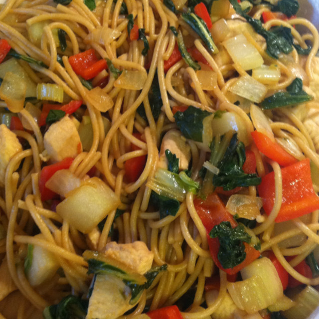 Healthy Stir Fry Noodles  Healthy Chicken Stir Fry with Noodles BigOven