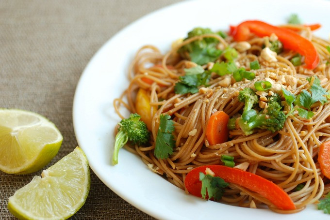 Healthy Stir Fry Noodles  Quick Veggie Stir Fry With Noodles Real Mom Nutrition