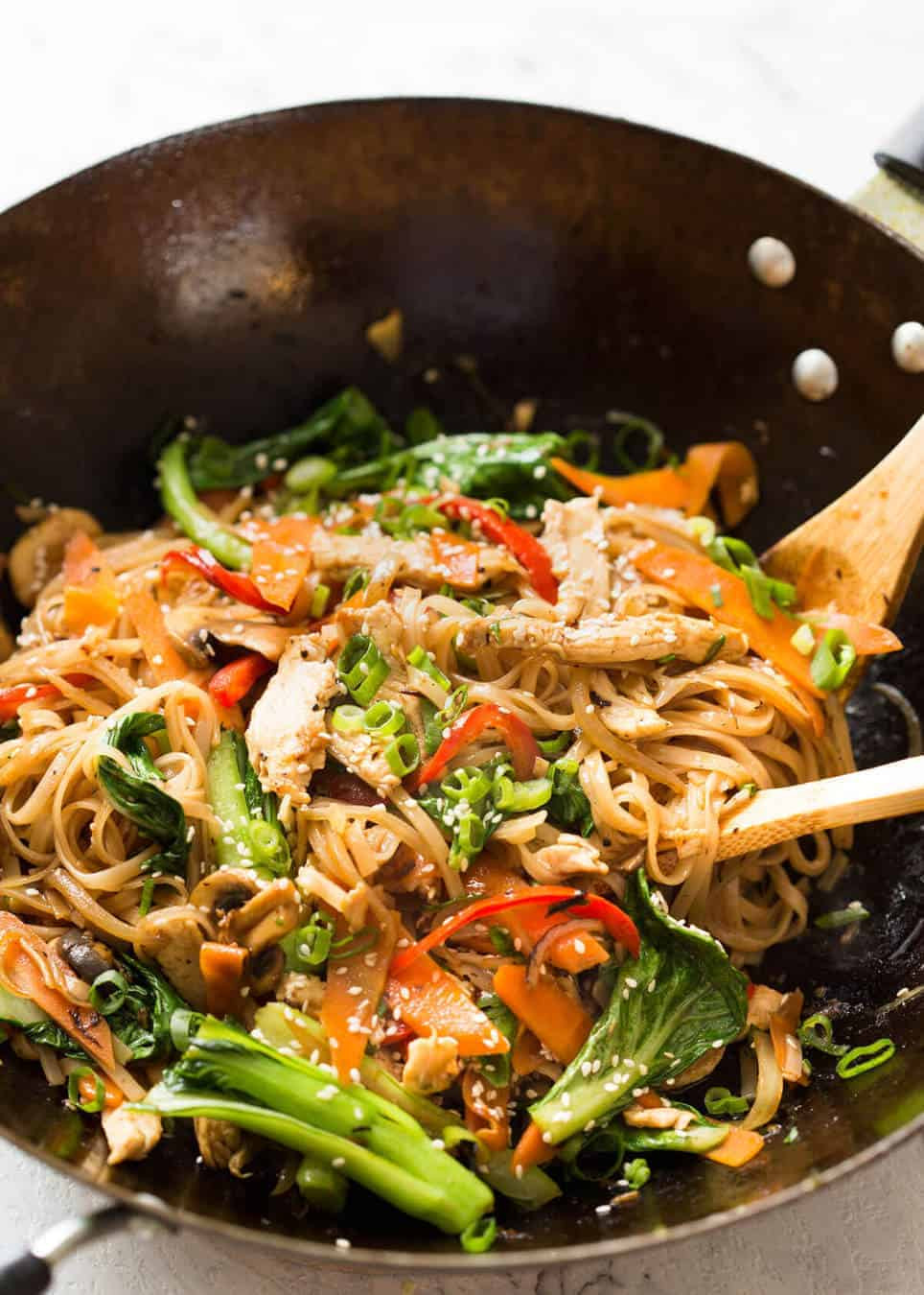 Healthy Stir Fry Noodles  Chicken Stir Fry with Rice Noodles