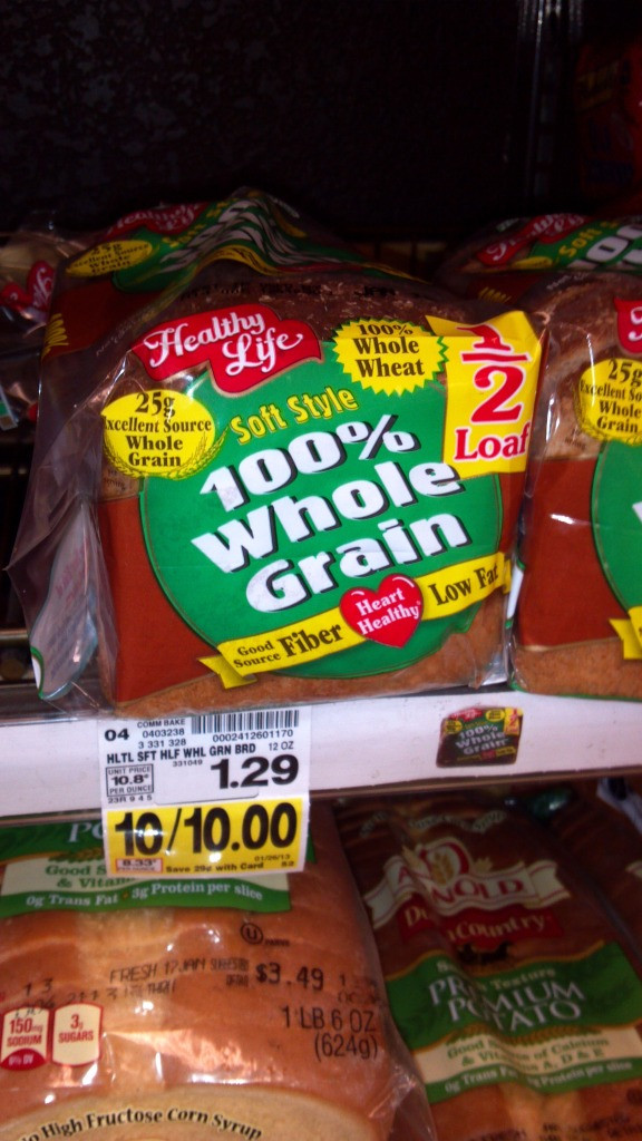 Healthy Store Bought Bread  Kroger Free Healthy Life Bread FTM