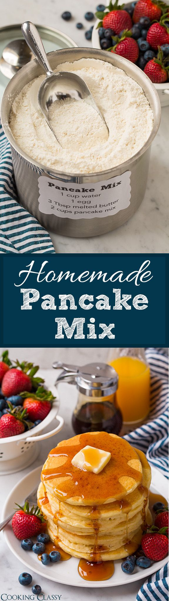 Healthy Store Bought Breakfast  Homemade Pancake Mix you ll never want to the store