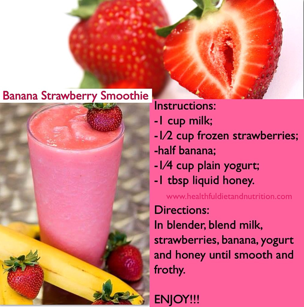 Healthy Strawberry Banana Smoothie Recipes For Weight Loss  healthy fruit smoothie recipes