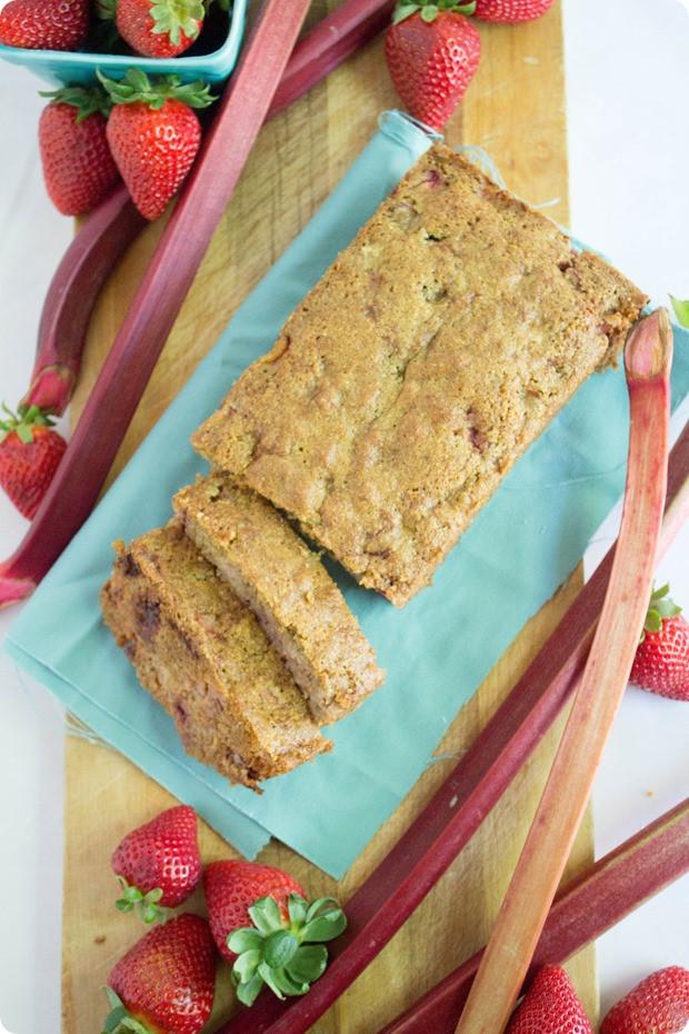 Healthy Strawberry Bread  Healthy Strawberry Rhubarb Bread Recipe fANNEtastic food