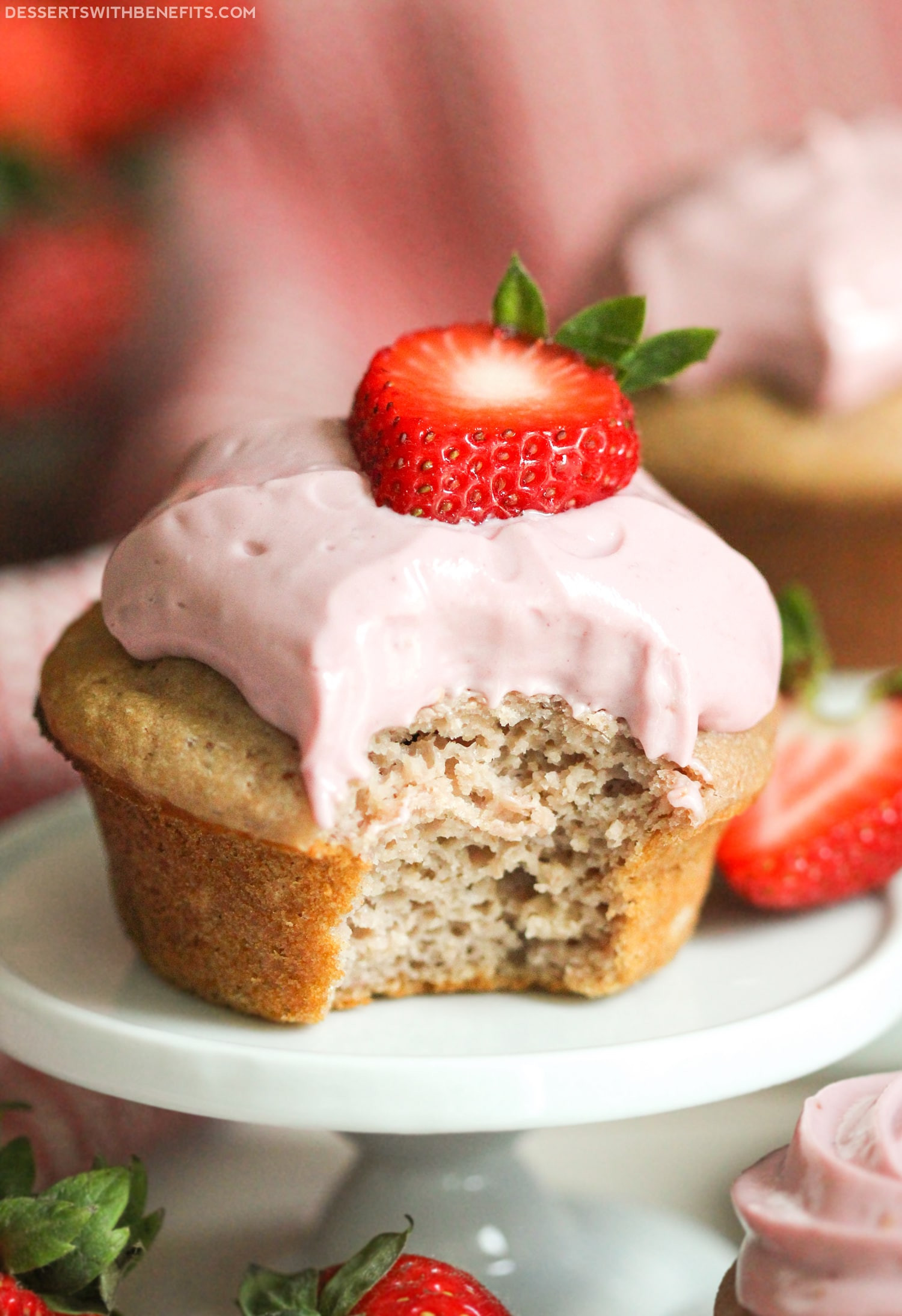 Healthy Strawberry Cupcakes  Healthy Strawberry Cupcakes Recipe
