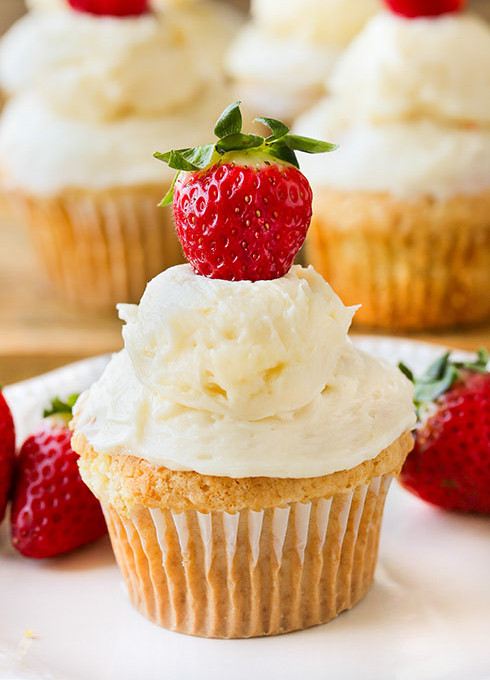 Healthy Strawberry Cupcakes  Strawberry Shortcake Cupcakes Swanky Recipes