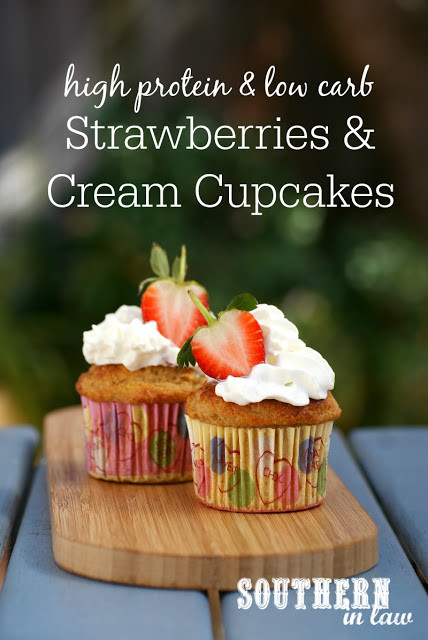 Healthy Strawberry Cupcakes  Southern In Law Recipe Healthy Strawberries and Cream